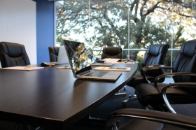 photo of an empty board room